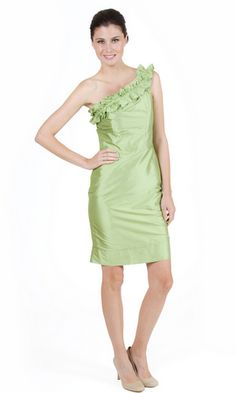 LulaKate Amilia Bridesmaid Dress shown in pale green