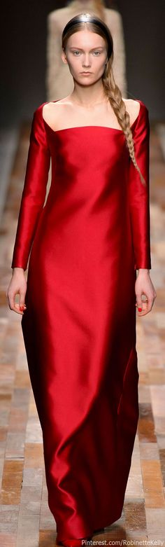 """Rich Royal Red Silk Gown - Valentino Fall 2013-14 #fashion"""