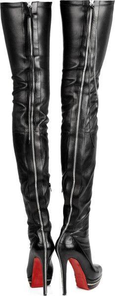christian louboutin high boots