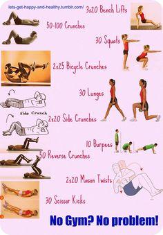 Health & Fitness - motivation - no gym workout.