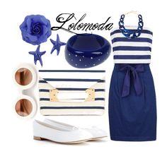 Navy Combi #Dress, www.lolomoda.com