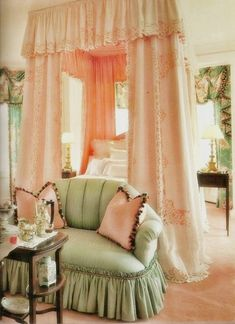Decorate Your Home with Shabby Chic - Shabby Chic Decor - Shabby Chic Moderne, Modern Shabby Chic, Shabby Chic Bedrooms, Shabby Chic Homes, Shabby Chic Decor, Romantic Bedrooms, Vintage Decor, Bedroom Green, Dream Bedroom