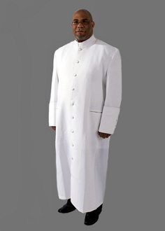 9a3e06a2ca 115. Men s Clergy Robe in White and Black