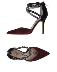 Sam Edelman Maroon and Black Studded Strappy Pumps