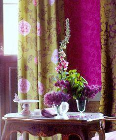 Samarkand Moss fabric via Designers Guild