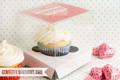 Confetti Sunshine: Cupcake Valentines - free printable