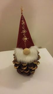20 christmas gnome ornaments a quick, adorable craft 00012 * kebun. Gnome Ornaments, Diy Christmas Ornaments, Holiday Crafts, Christmas Decorations, Pinecone Ornaments, Pinecone Christmas Crafts, Homemade Christmas Crafts, Holiday Decor, Christmas Gnome