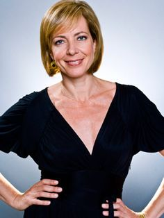 ALLISON JANNEY  AGE: 49  CATCH HER IN: The West Wing, Juno, this years Away We Go  SCHTICK: Versatility. Janney can play any kind of funny — brainy, trashy, oddball maternal — with a combination of energetic wit, physical comedy, and legitimate emotional depth. — Margaret Lyons