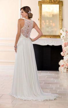 6542 Lace and Chiffon Beach Wedding Gown by Stella York