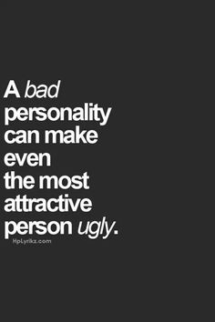 Ladies, this #ManicMondays, always remember that #looks aren't everything! He can be the most handsome man you've ever seen, but if he has a #badpersonality, it's just not worth it! Looks fade, after all!