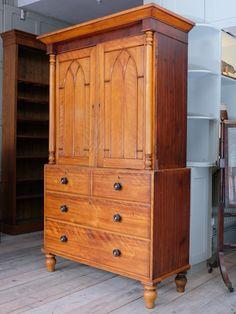 Satinwood Press Cupboard - Decorative Collective