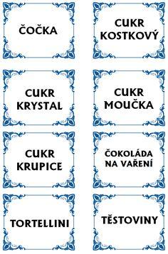 Etikety na potraviny Korn, Cardmaking, Decoupage, Diy And Crafts, Bullet Journal, Printables, Image, Scrapbooking, Patterns