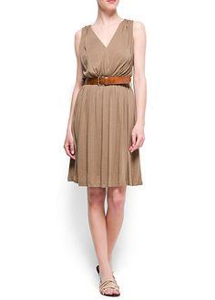 MANGO - Vestido plisado
