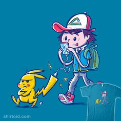 Pika-Charge! #battery #electricity #gaming #natebear #nintendo #pikachu #pokemon #pokemongo #videogame