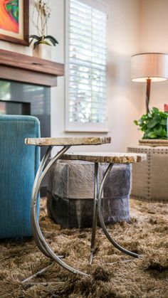 Modern Paradise - Kathy Ann Abell Interiors   San Diego, Califronia   Seating Area   Living room   Reclaimed Wood   Petrified Wood
