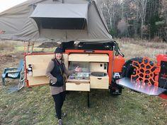 Our new Turtleback Trailer! Life Trailer, Trailer Tent, Off Road Camper Trailer, Camper Caravan, Trailer Build, Rv Campers, Expedition Trailer, Overland Trailer, Custom Trailers