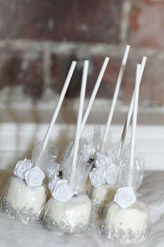 Elegant Marshmallow PopsBridal Shower favor wedding by cupidprints