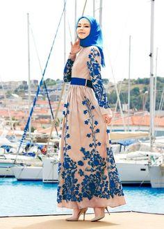 T 5050 Brode Tesettür Abiye-Alv Fashion - SAKS - Trend Tesettür