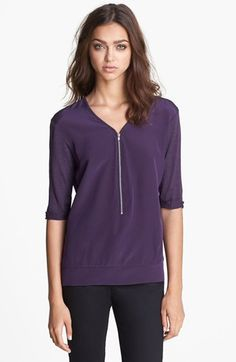 The Kooples Zip Front Top available at #Nordstrom
