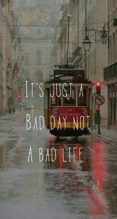 A bad day doesn't mean its a bad life. You can make it through it. It's just a bad day. From Quotes Wallpapers and Backgrounds app by Demiao Lin Positive Quotes, Motivational Quotes, Inspirational Quotes, Inspirational Wallpapers, Uplifting Quotes, Amazing Quotes, Cute Quotes, Bad Life, Wallpaper Quotes