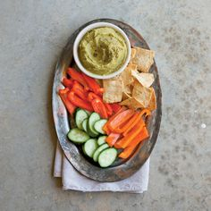 Split Pea Hummus | This is a fun Southern twist on traditional Greek hummus that is inexpensive and tasty. Serve it as an appetizer with fresh vegetables and pita chips for your Easter celebration.