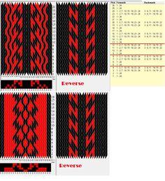 24 tarjetas, 2 colores, repite cada 4 movimientos // sed_665 diseñado en GTT༺❁