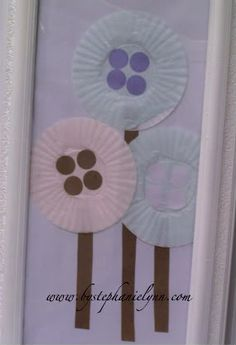 Cupcake Liner Flowers - Kid Crafts - Under the Table and Dreaming