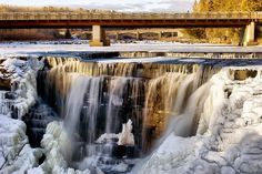 Kekabeka Falls near Thunder Bay Ontario, Canada.  Frozen waterfalls are so cool!  (No pun intended.)