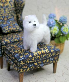 Dollhouse Miniature Westie Dog