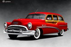 Buick Super Estate Wagon, red-er the bett-er Vintage Cars, Antique Cars, Beach Wagon, Buick Envision, Buick Cars, Woody Wagon, Buick Lacrosse, Motor Car, Concept Cars