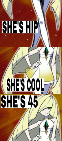 Anya:*yelling*HOW THE HELL DOES THAT WORK!!?! Gladion:Meh