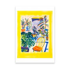 Art print by Leah Stuart: printed at Hato Press, Dalston London