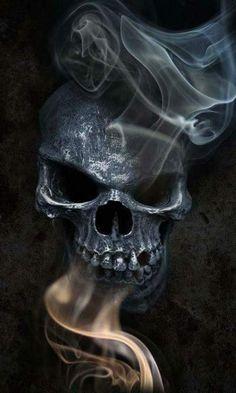 I love skulls, but I have no skull tattoos. Go figure. Dark Fantasy Art, Dark Art, Badass Skulls, Totenkopf Tattoos, Skull Pictures, Bild Tattoos, Skulls And Roses, Arte Horror, Wow Art