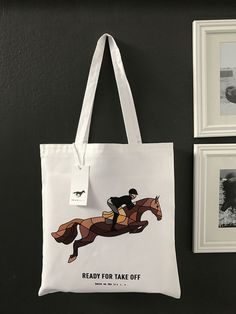 e78cc0a04cb Items similar to Brown Jumping Horse Tote Bag Made to Order on Etsy