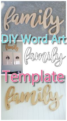 Do it yourself word art easy scroll saw woodworking diy project diy word art woodworking free template woodworking pattern to create your own custom do it yourself solutioingenieria Image collections