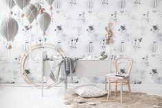 Oh Clouds Wallpaper Pre-Order - Concrete Blush Swan Wallpaper, Room Wallpaper, Nursery Room, Nursery Mobiles, Nursery Ideas, Nursery Rhymes, Baby Room, Nursery Decor, Bedroom