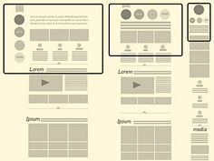 Responsive Design Trends for the Mobile Web / Design Tickle Mockup Design, Interaktives Design, Web Design Tips, Layout Design, Flat Design, Design Trends, Webdesign Inspiration, Web Inspiration, Ui Web