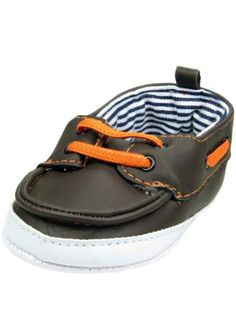 Baby Boys Infant Brown Boat Shoes by OshKosh - Chocolate - 4 Infant / 9 Mths-12 Mths. Baby shoes are soft and flexible for little growing feet. Infant loafers can be worn with pants, shorts, or jeans. Slip-on baby shoes are soft and flexible for tiny little feet. Baby Boys Infant Brown Boat Shoes. Soft sole baby shoes are made out of soft breathable fabrics. Variation: (4 Infant / 9 Mths 12 Mths) Size. The perfect shoes for your little boy.