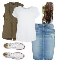 """""""Untitled #25"""" by make-my-modest-closet ❤ liked on Polyvore featuring Current/Elliott, NLST and Converse"""