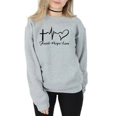 Christian Hoodies, Christian Clothing, Christian Apparel, Christian Gifts, Grey Sweatshirt, Graphic Sweatshirt, Gray Sweater, Grunge, Dressy Outfits