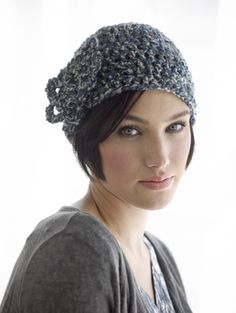 Embellished Beanie. I'll make the flower a bit more obvious with a contrasting color. I can see this one on Anca
