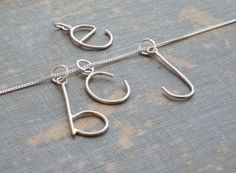 E is for Emmy, Pick Your Letter, Custom Initial Letter Necklace on Sterling Chain  By: SDMarieJewelry @ etsy.com