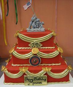 Phenomenal 10 Best Marine Corps Cake Images Marine Corps Cake Marine Cake Birthday Cards Printable Trancafe Filternl