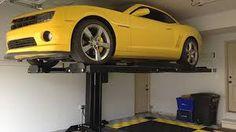 wallpapergif: Single Post Car Lift model and – American Custom Lifts Single Post Car Lift, Garage Car Lift, Bookshelf Design, Garage Storage, Car Ins, Cool Things To Make, New Homes, Garage Ideas
