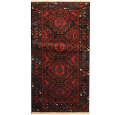 Herat Oriental Afghan Hand-knotted Tribal Balouchi Wool Rug