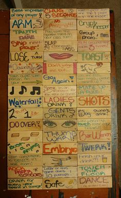 Adult Party Games, Adult Games, Ladies Night, Girls Night, Party Hacks, Party Ideas, Jenga Drinking Game, Drunk Jenga, Drunk Games