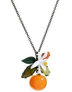 Les Nereides Orange Necklace