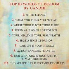 Gandhi wisdom