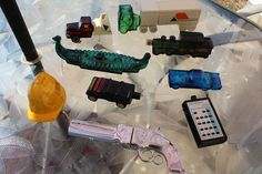 Vintage Avon Bottles 55 Thunderbird Jeep Trucks Train Gun Viking Discoverer Hat