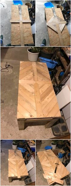 This wood pallet table is beautifully designed with the simple setting of the wood pallet vertical planks arrangement. You would be finding it so much impressive on the whole. It is rather put together in the texturing effect that is making it come about as its main attraction.